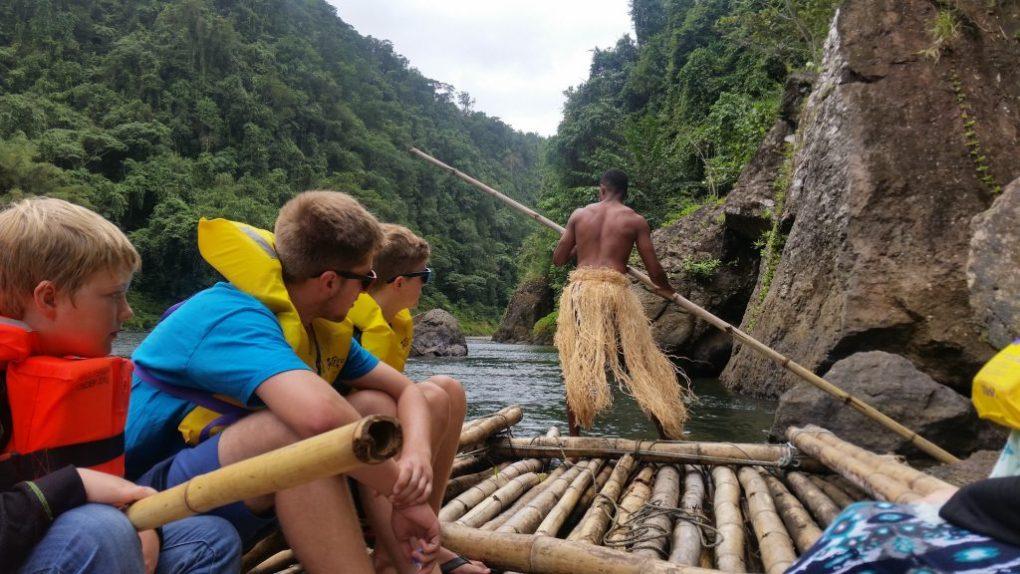 fiji river bamboo raft