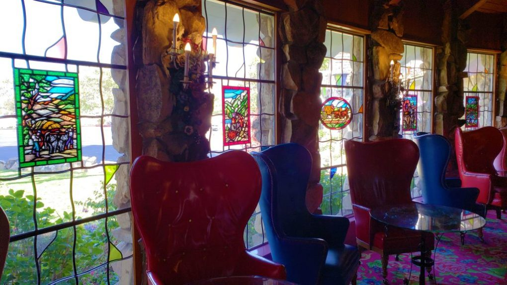 madonna inn bar stained glass