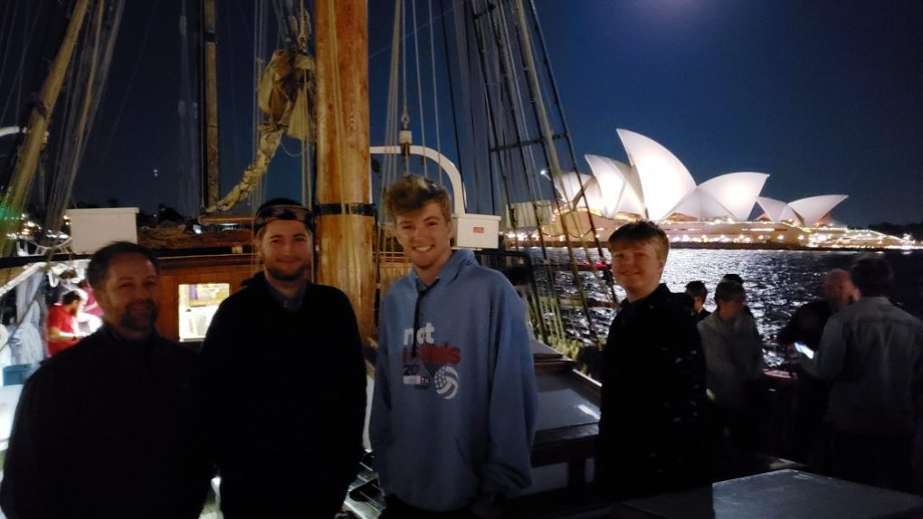 sydney tall ship end