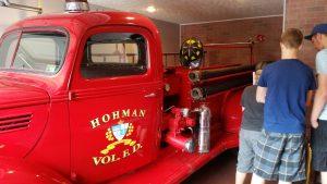 a christmas story house firetruck