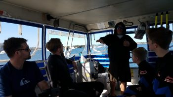 Captain talking about manatees