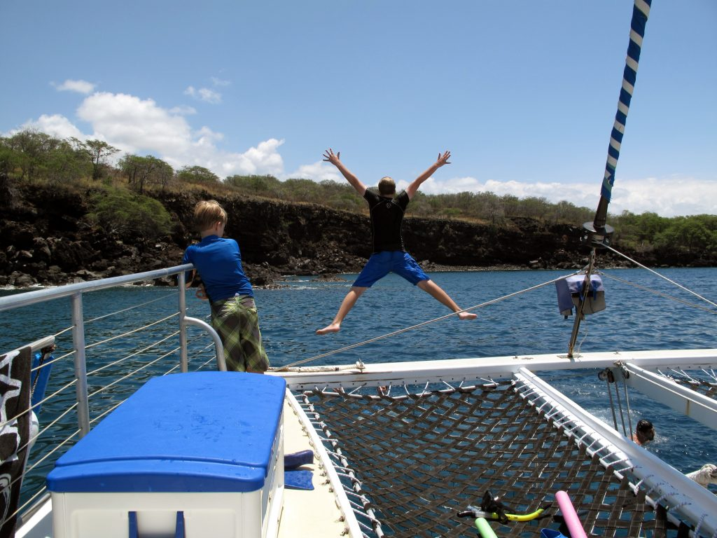 Red hill snorkeing jumping from boat