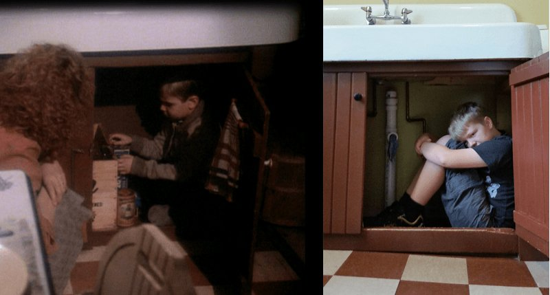 a christmas story house under sink